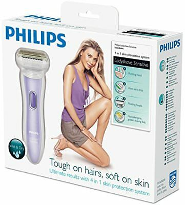 Philips Double Contour 4-in-1 Ladyshave Sensitive Wet Dry Hair Trimmer HP6368