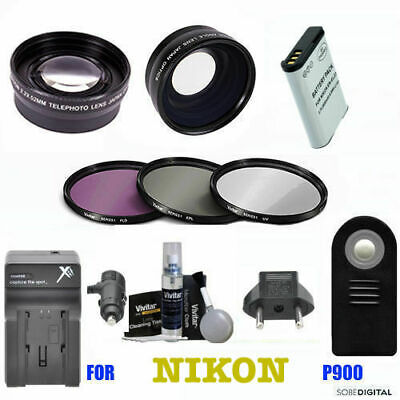 67MM WIDE ANGLE Lens for Nikon CoolPix P900 Digital Camera