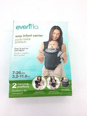 Evenflo Infant Carrier: 2 Carrying Positions I 7 to 26lbs I Black (ST29)