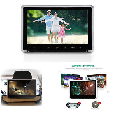 "11.6""HD Car SUV Headrest Monitor DVD Player Touch Button+HDMI/FM/IR/USB/SD/Game"