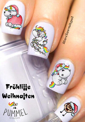 Pummeleinhorn NailArt Sticker Aufkleber  Nageldesign Tattoo 989