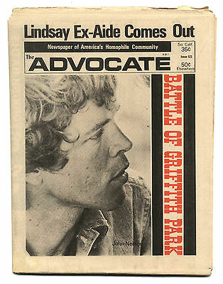 THE ADVOCATE No 123 October 24, 1973 Gay interest magazine/newspaper