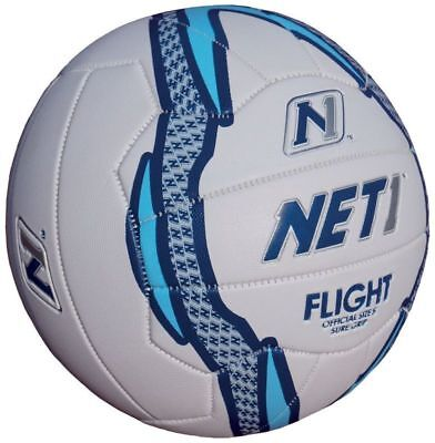 Flight Netball White Blue Foil Size 4 Only