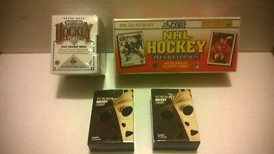 Lot of 4 Unopened NHL Hockey Card Boxes. Upper Deck, Score & more. 1990's