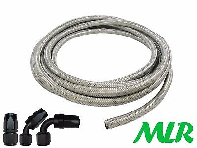 An -8 Jic Stainless Steel Braided Oil Cooler Hose Pipe & Anodised Alloy Fittings