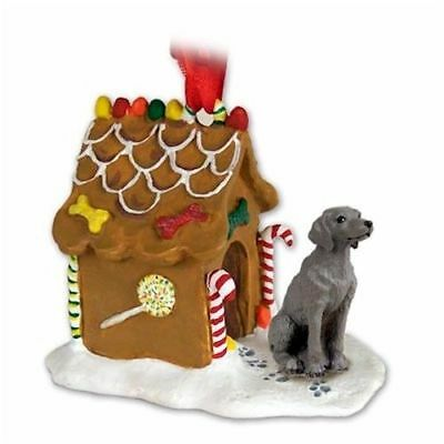Weimaraner Dog Gingerbread House Christmas Holiday ORNAMENT  Charity WEIM RESCUE