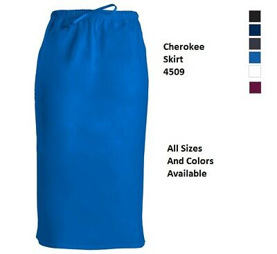"Cherokee Scurbs WorkWear 30"" Drawstring Skirt 4509 Choose Color/Size NWT"