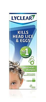 Lyclear Shampoo and Comb 200ml