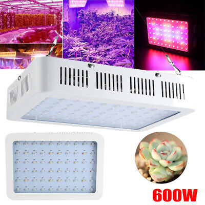 600W LED Grow Light Hydro Full Spectrum Hydroponic Indoor Bloom Plants Flower US