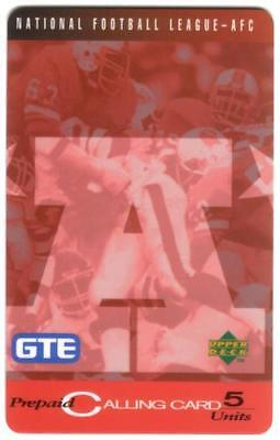 5u GTE / Upper Deck Issue: Set of 30 Diff AFC & NFC Football Cards Phone Card