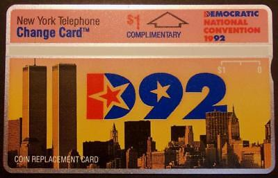 $1. Comp. 1992 Democratic Convention 'D92' With Flyer, Folder, & Book Phone Card