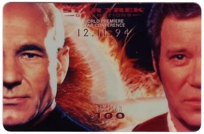 Star Trek: 3x $100. Star Conference Cards (Set of 3) JUMBO PROOFS Phone Card