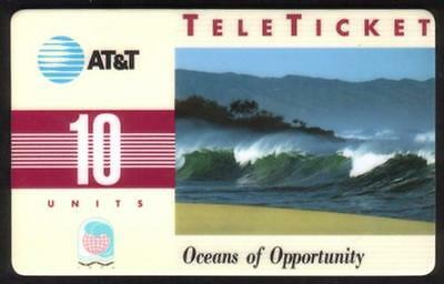 10u Oceans of Opportunity USED & Many Smudges/Scratches Phone Card