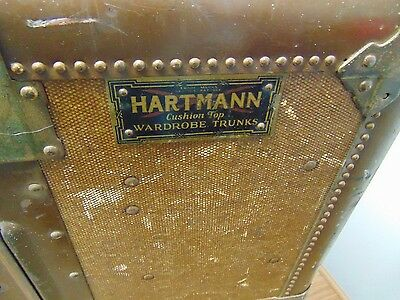 Hartmann CushionTop Wardrobe Trunk Duff San Angelo TX 1906-LocalPickup Ft.Worth
