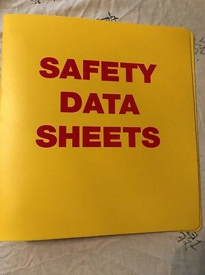 Safety Data Sheets SDS Yellow Binder Red Letters OSHA Has Chain Uline Brand