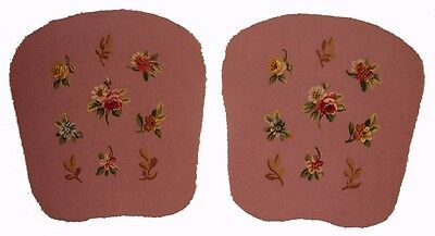 A Superb Pair of Pink Tapestry Chair Covers - Free USA Shipping