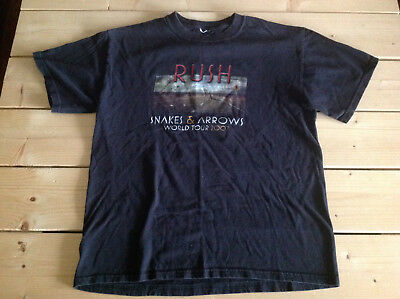 Rush Snakes And Arrows World Tour 2007 Two Sided Concert Shirt M Pre-Owned