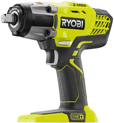 Ryobi P261 18V ONE+ 1/2 in. Cordless 3-Speed Impact Wrench, No Battery & Charger