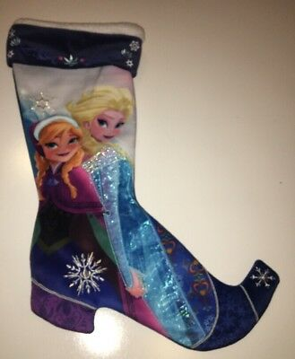 Disney Parks Frozen Christmas Stocking Princess Anna and Elsa Holiday Polyester