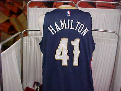 925cbd49f842 NBA 2014-2015 New Orleans Pelicans  41 Hamilton Game Worn Jersey Size XL+