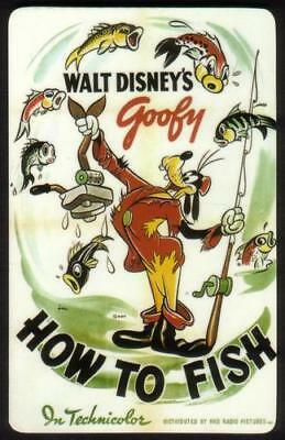 Walt Disney Movie Poster: Goofy 'How To Fish' (In Technicolor) Phone Card