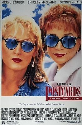 Postcards from the Edge Original S/S Rolled Movie Poster 27x40 Meryl Streep 1990