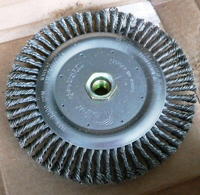 "Weiler Roughneck 3A201A Steel 6-7/8"" Knot Wheel Brush, Made Usa"
