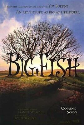 BIG FISH MOVIE POSTER 2 Sided ORIGINAL Advance INTL 27x40 TIM BURTON