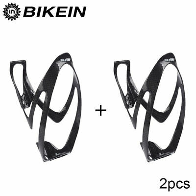 BIKEIN Carbon Bottle Holder 2pcs Bicycle MTB Road Glossy Water Drink Cage&Bolts