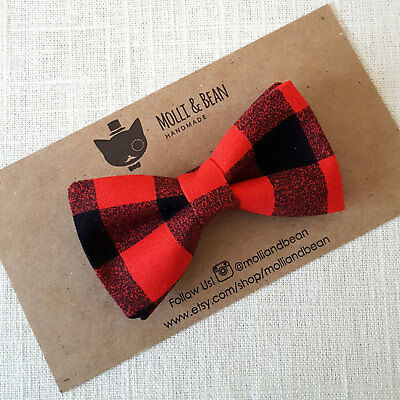Molli and Bean Boys Bowties, Newborn BowTie, Holiday BowTie (Various Options)