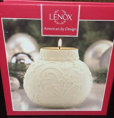 Lenox American by Design Ornamental Glow Holly Scrollwork Votive Candle NIB