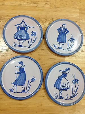 Antique/Vintage Schlierbach: Four Coasters/Mini Plates
