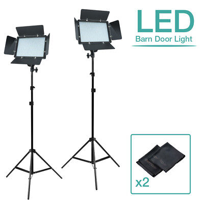 |2-Sets|LED Barn Door Panel Dimmable Lighting Kits w/ |2Pack| SuperFiber Clothes