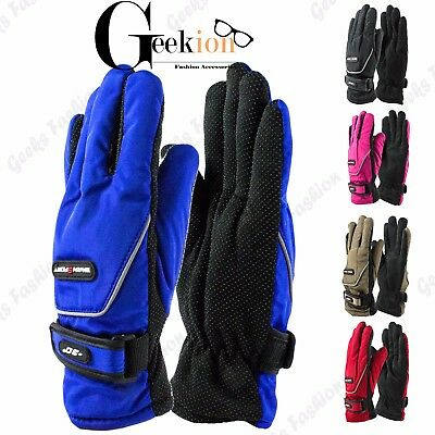 Womens Winter Warm Waterproof Ski Snowboard Driving Thermal Sport Gloves Mitten