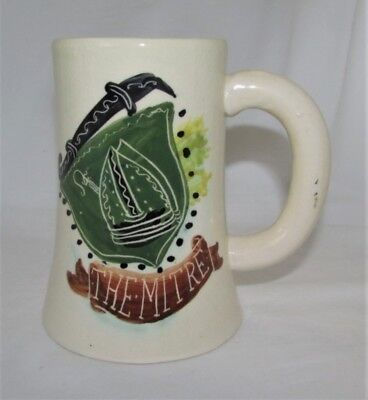 Australian Pottery Large Mug/Stein Signed Martin Boyd Pub/Inn Subject The Mitre