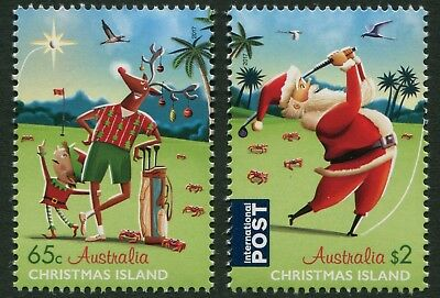 Christmas Island - Christmas 2017 - Mnh Set Of Two (G10)
