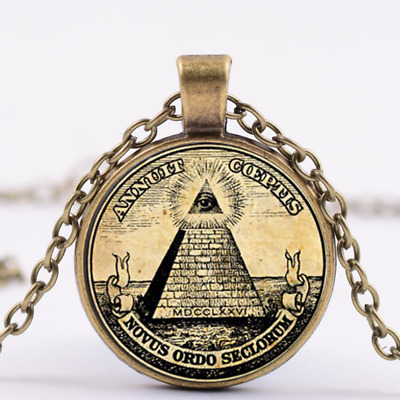 4 Color Symbol masonic illuminati Freemasonry Secret Society pendant necklace