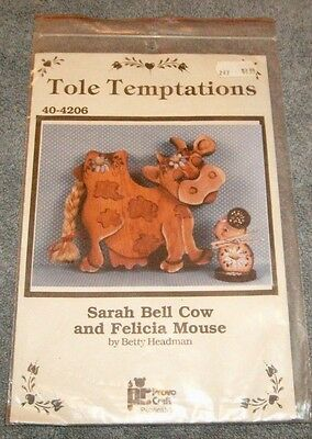 Tole Temptations 40-4206 Sarah Bell Cow & Felicia Mouse Wood Craft Instructions