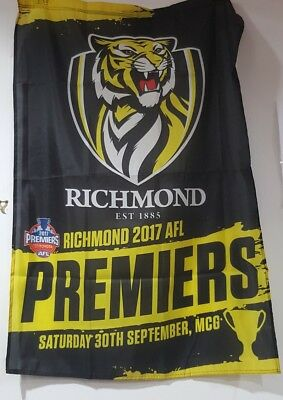2017 Premiers Premiership Richmond Tigers Wall Flag