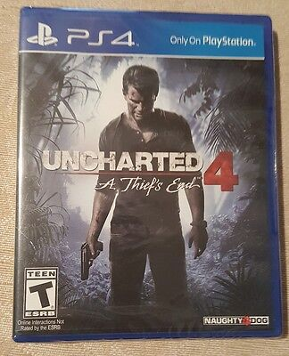 UNCHARTED 4 A Thief's End Sony PlayStation 4 Game Disc PS4 NWT FACTORY SEALED