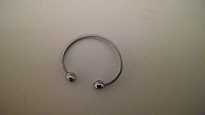 New Q Ray Ionized Bracelet Silver Deluxe Magnetic Xs