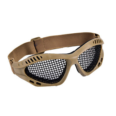 Outdoor Paintball Goggle Hunting Airsoft Metal Mesh Glasses Eye Protection、New
