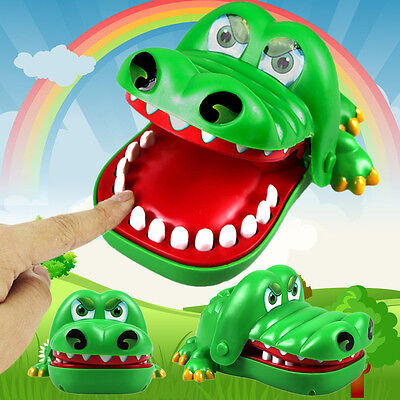 "Large""Crocodile Mouth Dentist Bite Finger Game Fun Playing Toy Kid Children Gift"