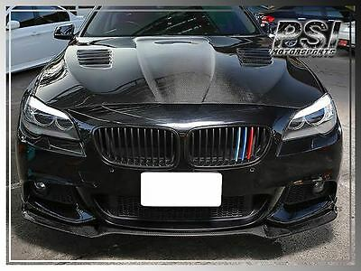 E Style Carbon Fiber Front Bumper  Lip for 11-15 BMW F10 M-Tech Only 528i 550i