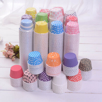 Cute 100 pcs Cupcake Liner Baking Cups Mold Paper Muffin Cases Cake Tool、New