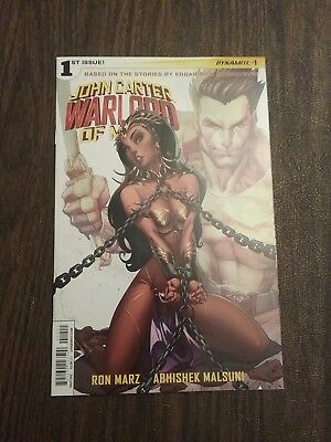 JOHN CARTER WARLORD OF MARS #1 J Scott Campbell Comics Cover Dejah Thoris VFNM