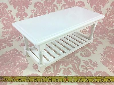 Dollhouse MIniature Furniture Kitchen/Baking/Home/Working White Wood Table 1:12