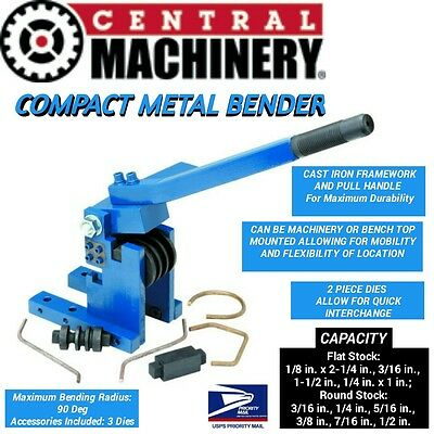 NEW Compact Metal Bender Cast Iron Framework Tube Pipe Rod Fabrication 6 Dies