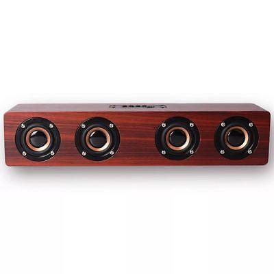 Wooden Portable Wireless Bluetooth  4 Speaker Subwoofer 3D Surround Hifi Stereo