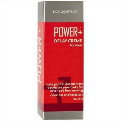 Doc Johnson Power + Delay Creme for Men. 2 Oz. 56 g. USA Made. Free Shipping!